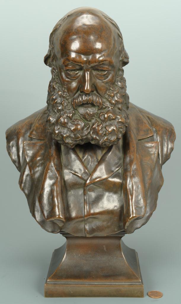 Lot 172: William Birnie Rhind Bronze Bust of a Man