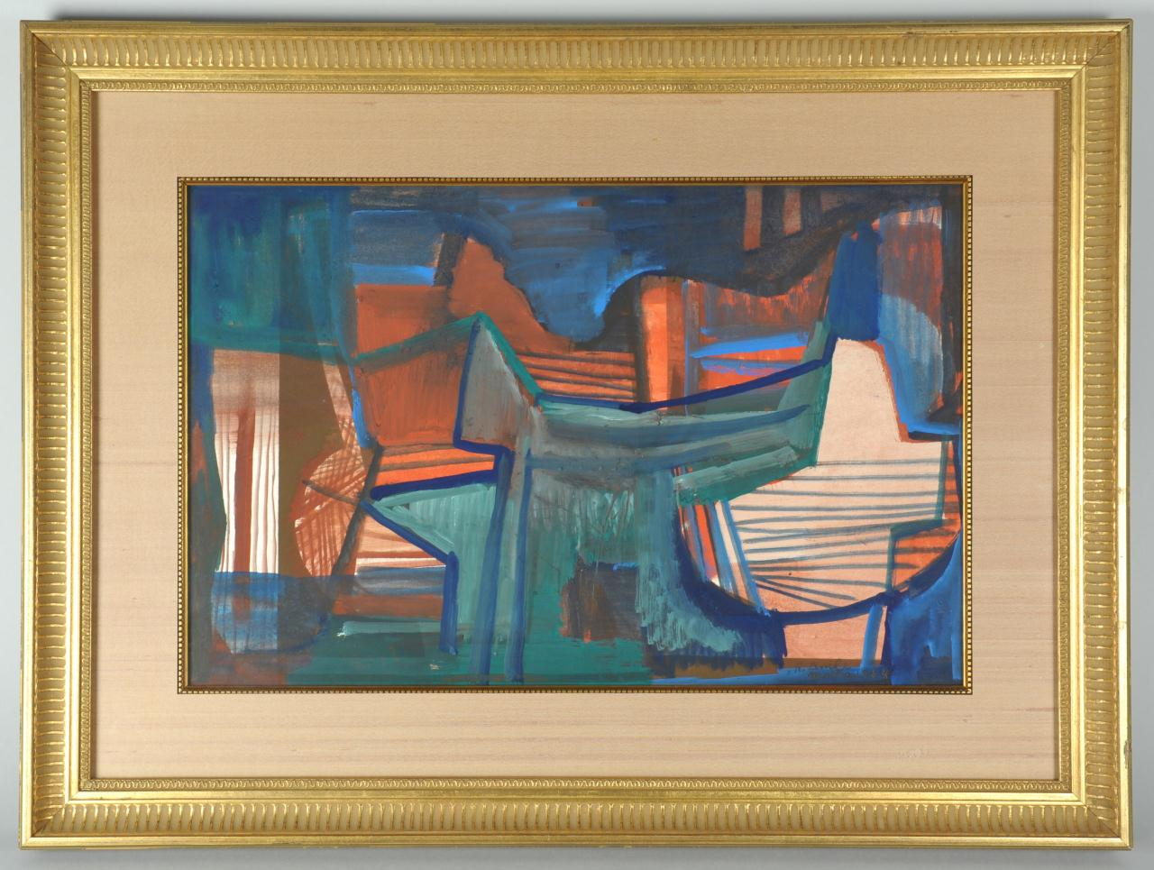 Lot 177: Roberto Burle Marx Abstract Painting