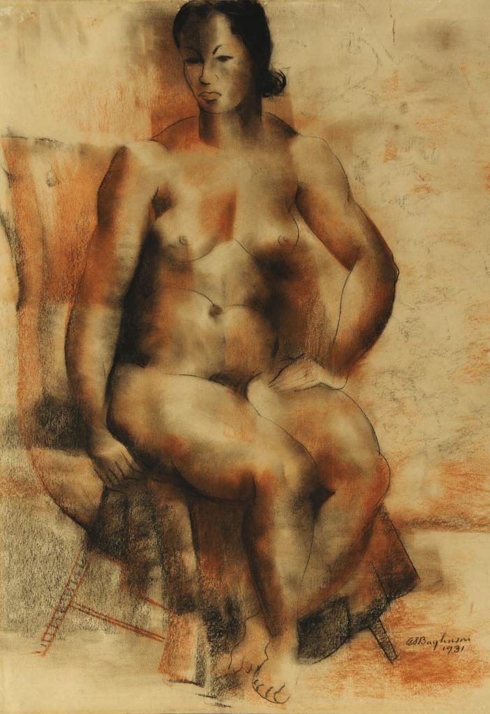 Lot 179: Abraham S. Baylinson Nude Pastel