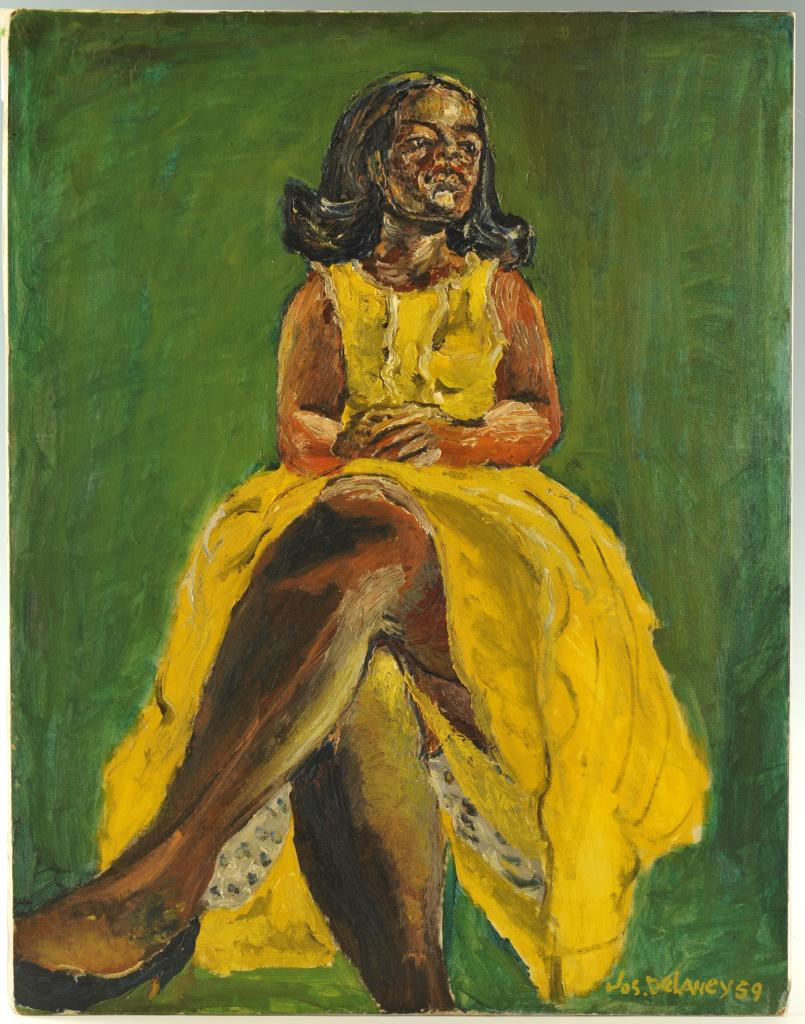 Lot 180: Joseph Delaney, Woman in Yellow Dress