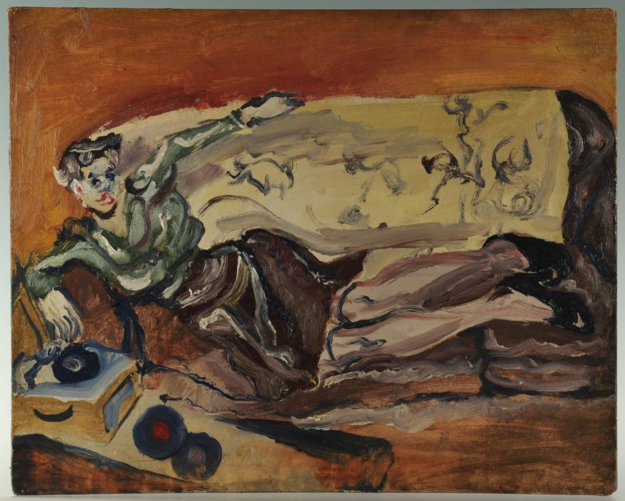 Lot 181: Joseph Delaney, Lounging Woman