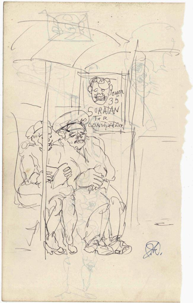 Lot 185: 2 Joseph Delaney Ink Drawings