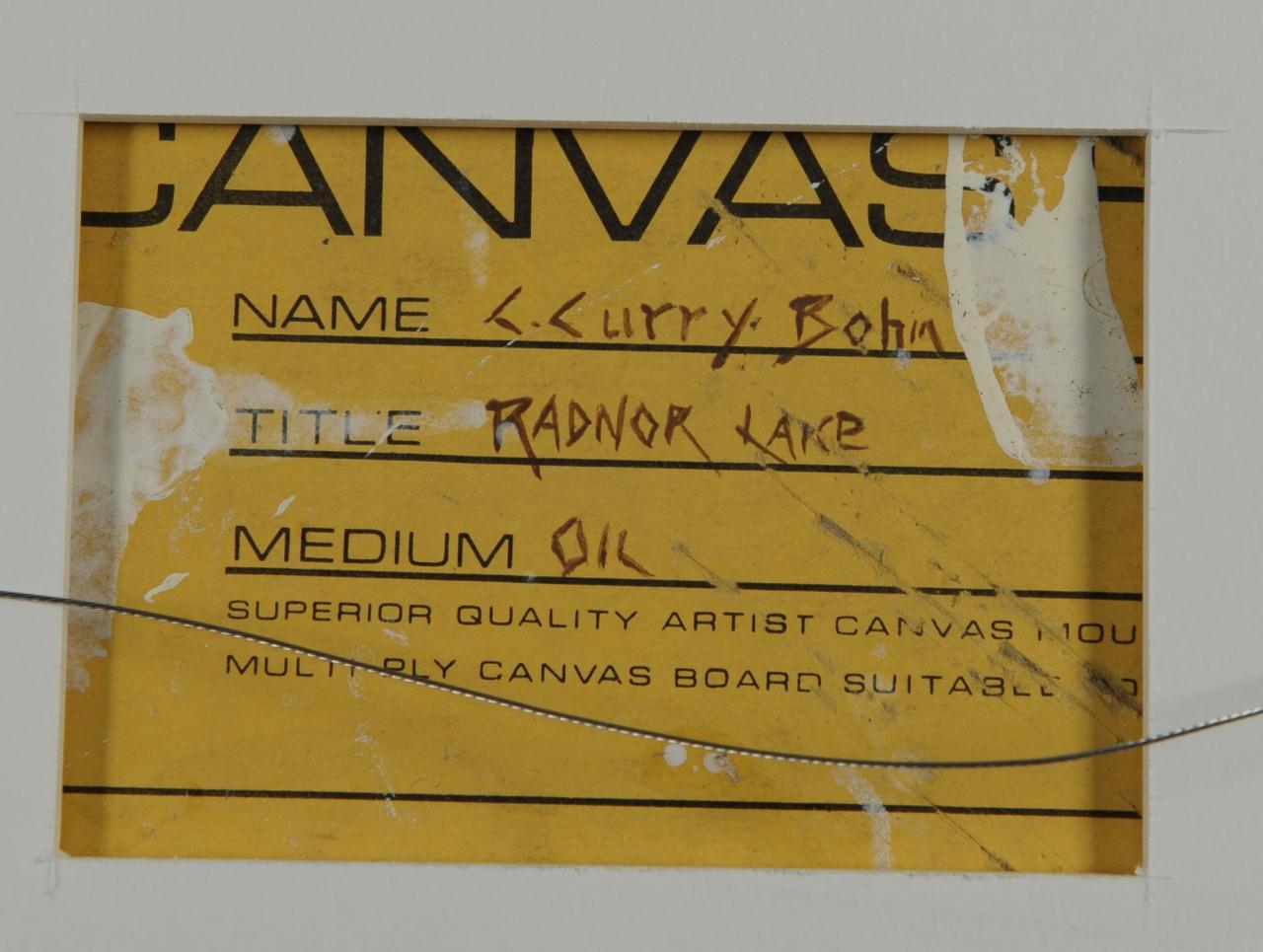 Lot 187: Curry Bohm oil on board, Radnor Lake