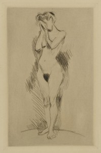 Lot 191: Signed Henri Matisse Nude Etching, The Weeper