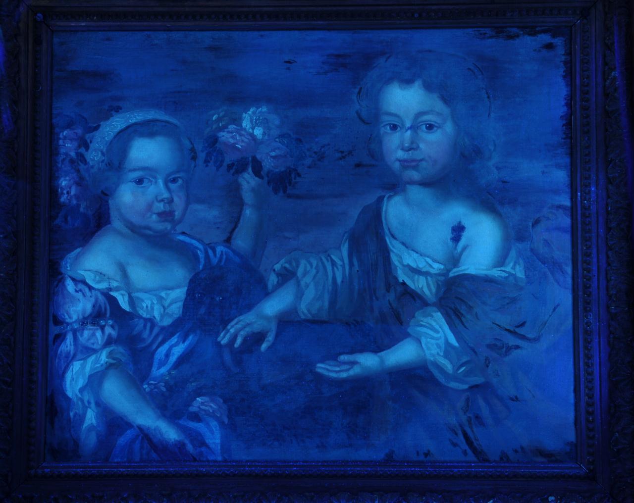 Lot 199: Portrait of Two Children, manner of John Smibert