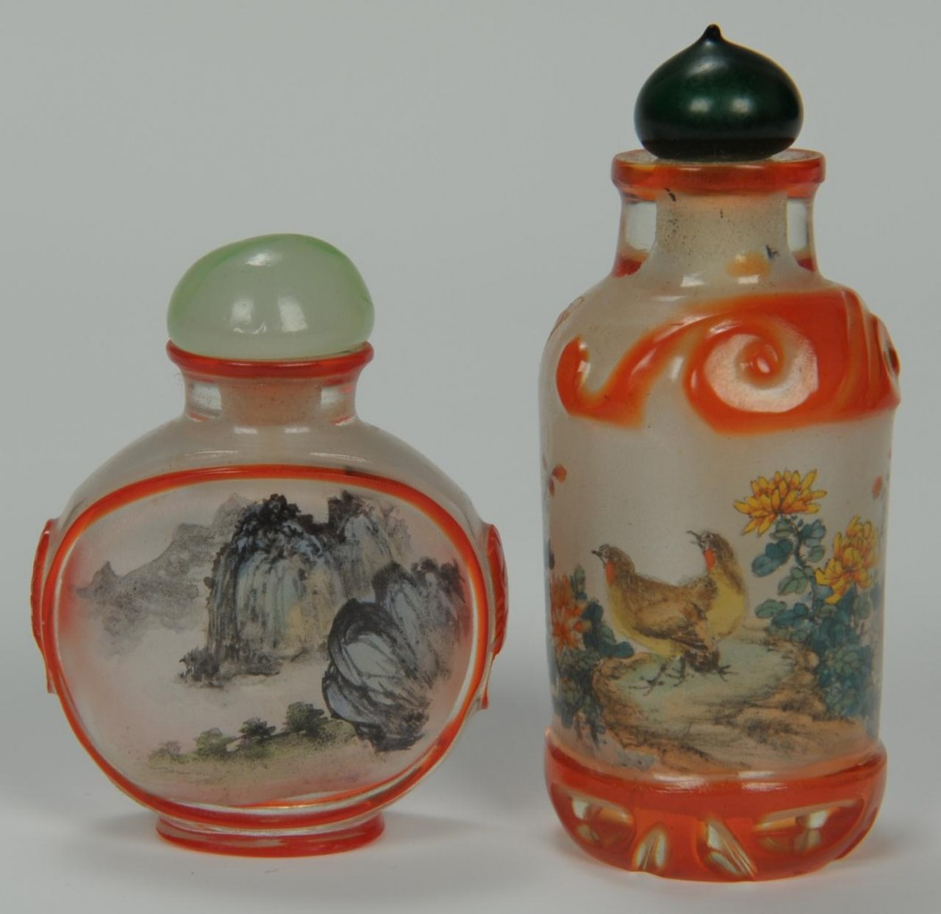 Lot 207: Five Assorted Chinese Snuff bottles