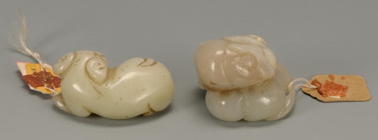 Lot 212: Two Chinese jade carved animal figures