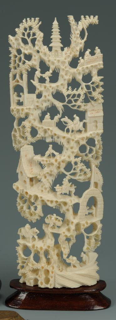 Lot 217: 5 Assorted Asian decorative items including ivory