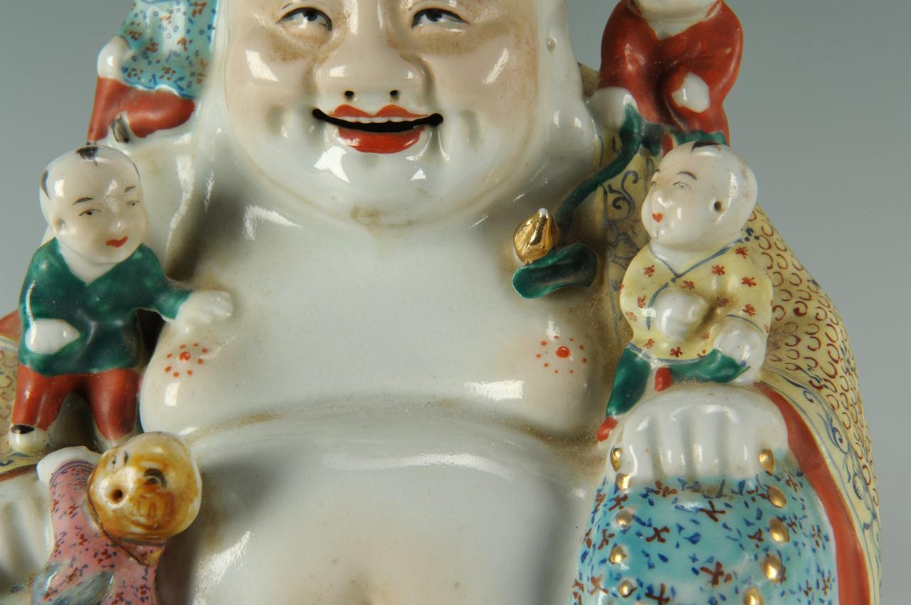 Lot 222: Chinese Famille Jaune Buddha and Children