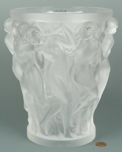 Lot 229: Lalique Bacchantes Art Glass Vase