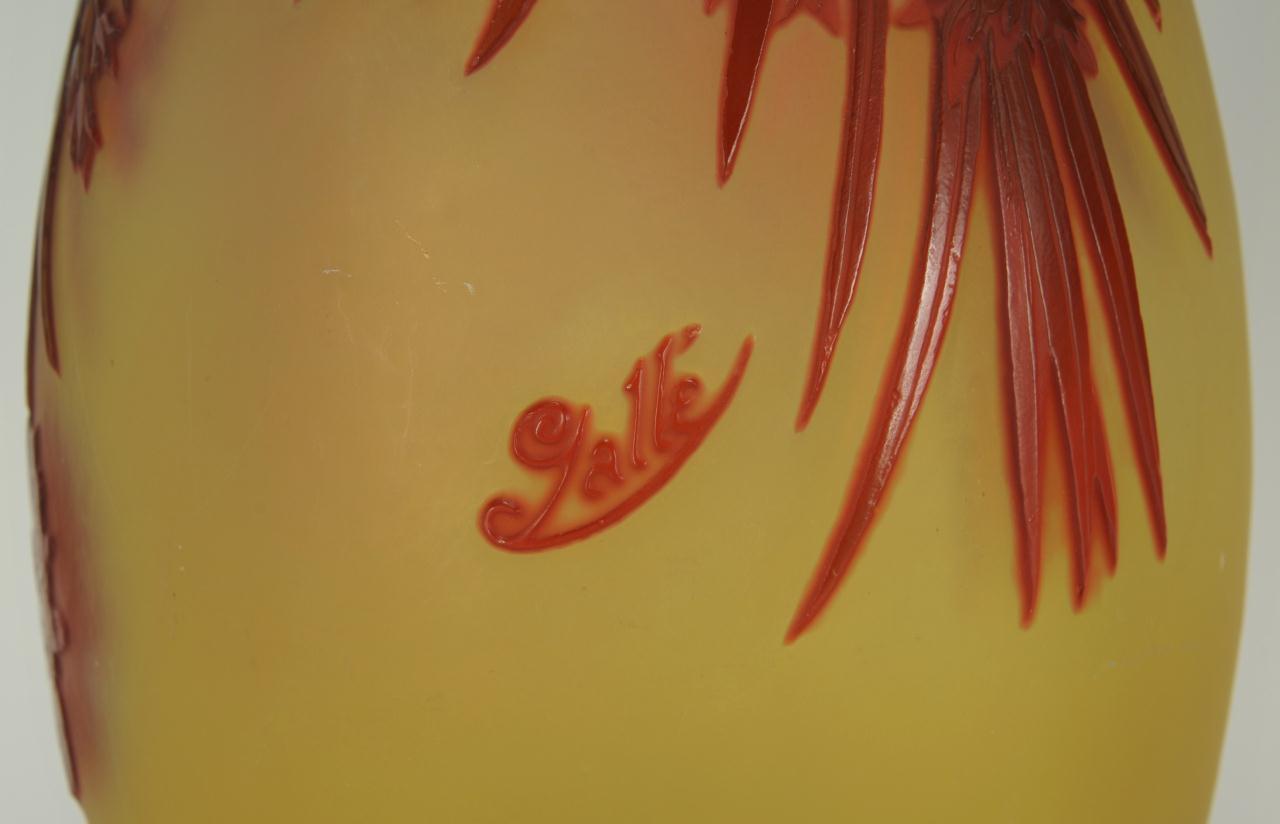 Lot 233: Galle Art Nouveau Glass Vase