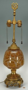 Lot 234: Signed Daum Art Deco Lamp