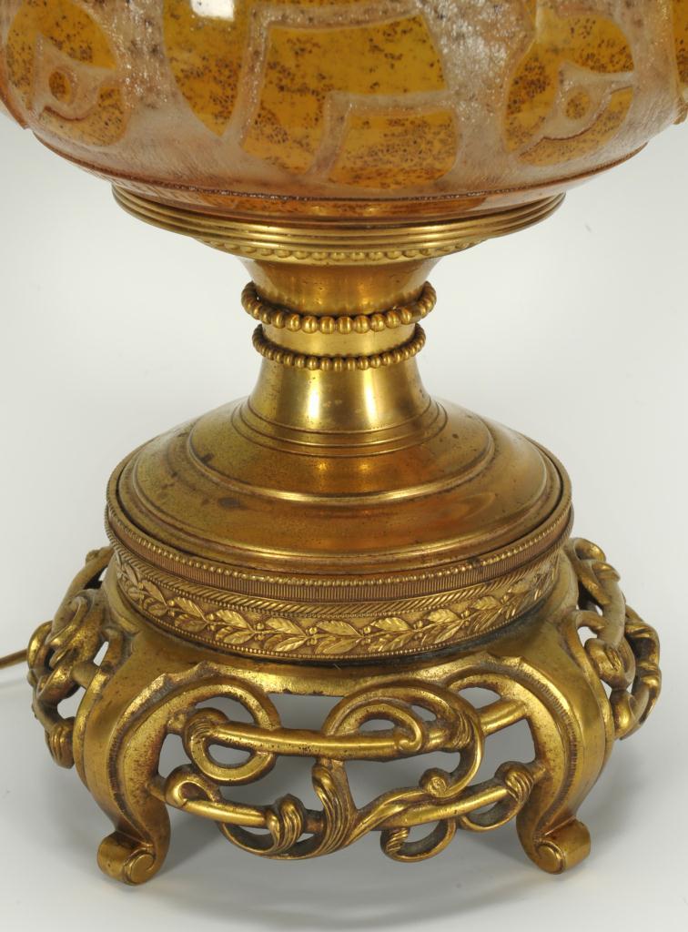 Lot 234: Signed Daum Art Deco Lamp