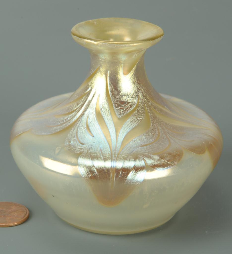 Lot 235: Small Loetz Phanomen art glass vase, signed