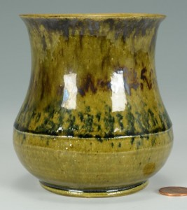 Lot 241: George Ohr Polychrome Decorated Vase