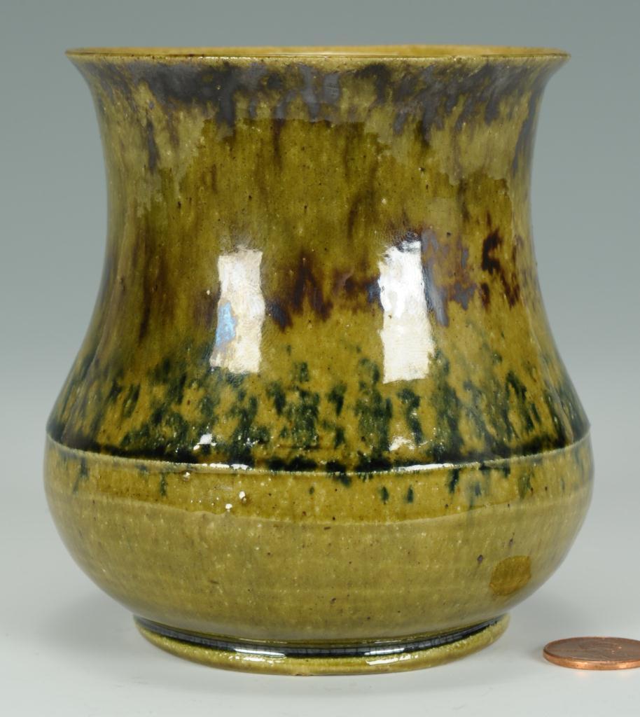 Lot 241: George Ohr Polychrome Decorated Vase