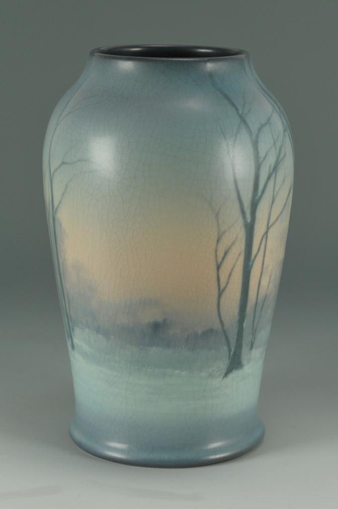 Lot 242: Rookwood Art Pottery Scenic Vase
