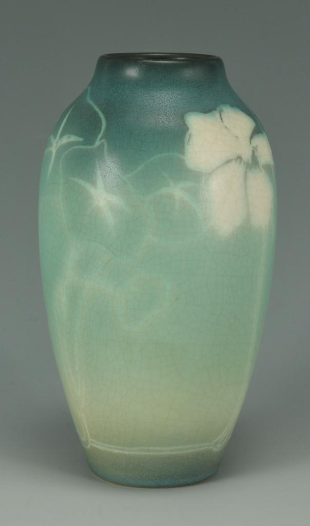 Lot 244: Rookwood Vellum Vase by Elisabeth Lincoln