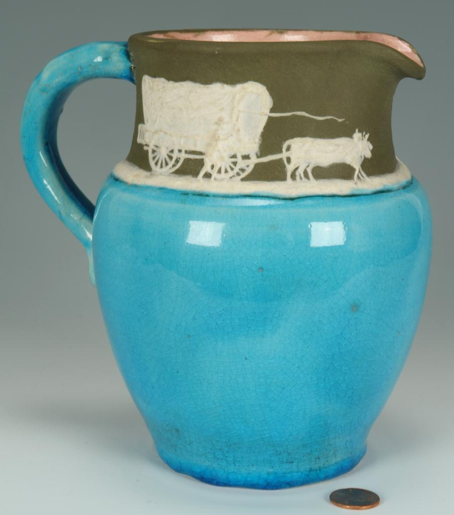 Lot 247: Pisgah Forest Cameo Ware Pitcher
