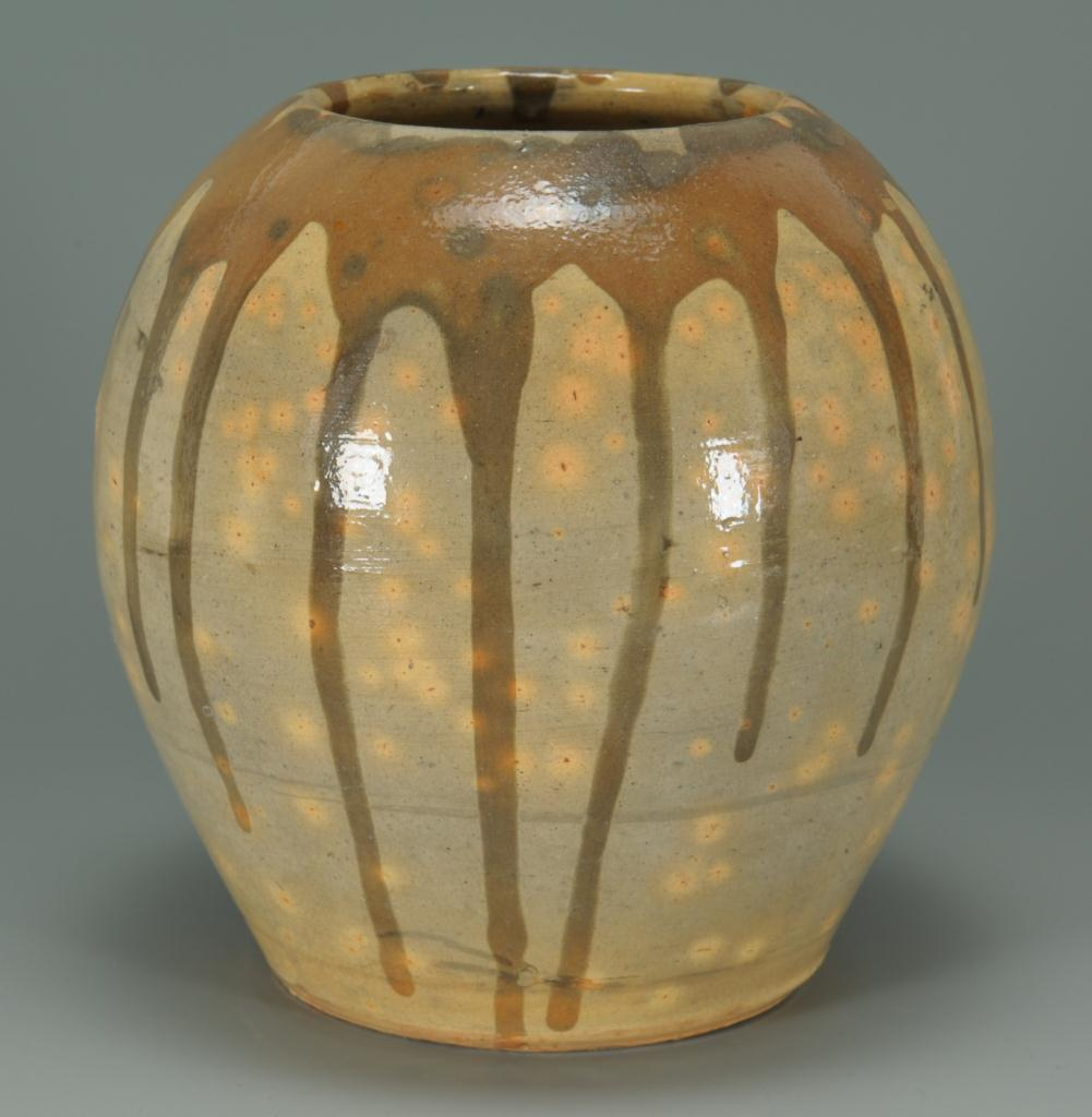 Lot 248: NC Log Cabin Pottery Bulbous Vase
