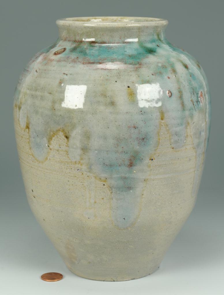 Lot 251: NC Jugtown Vase w/ Chinese Glaze