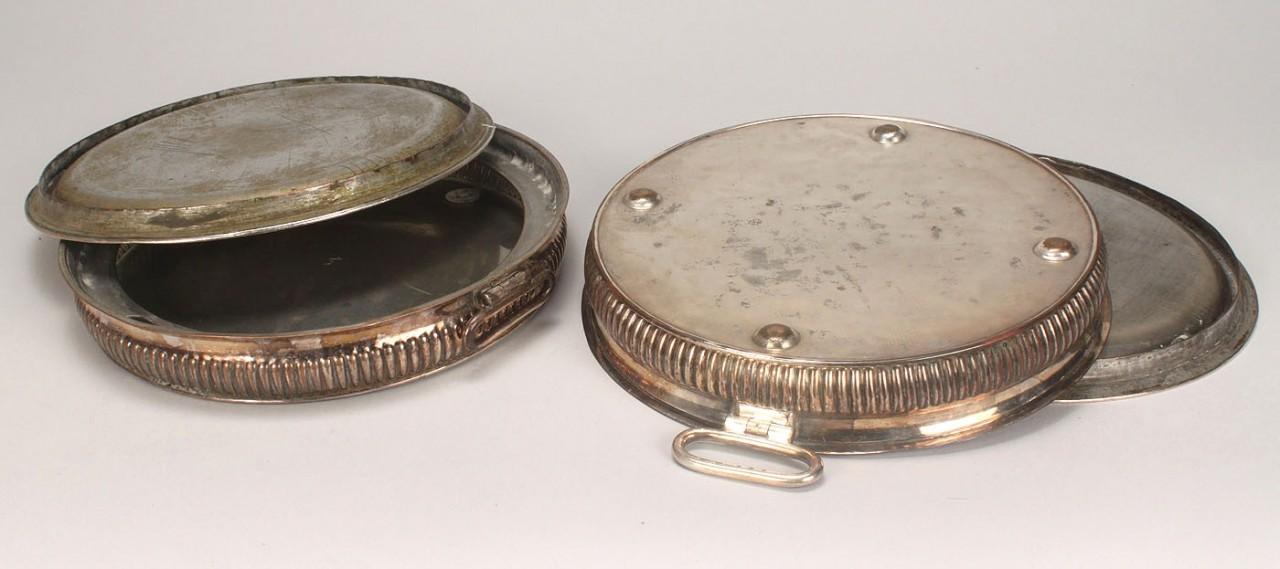 Lot 260: Pair Matthew Boulton warming plates
