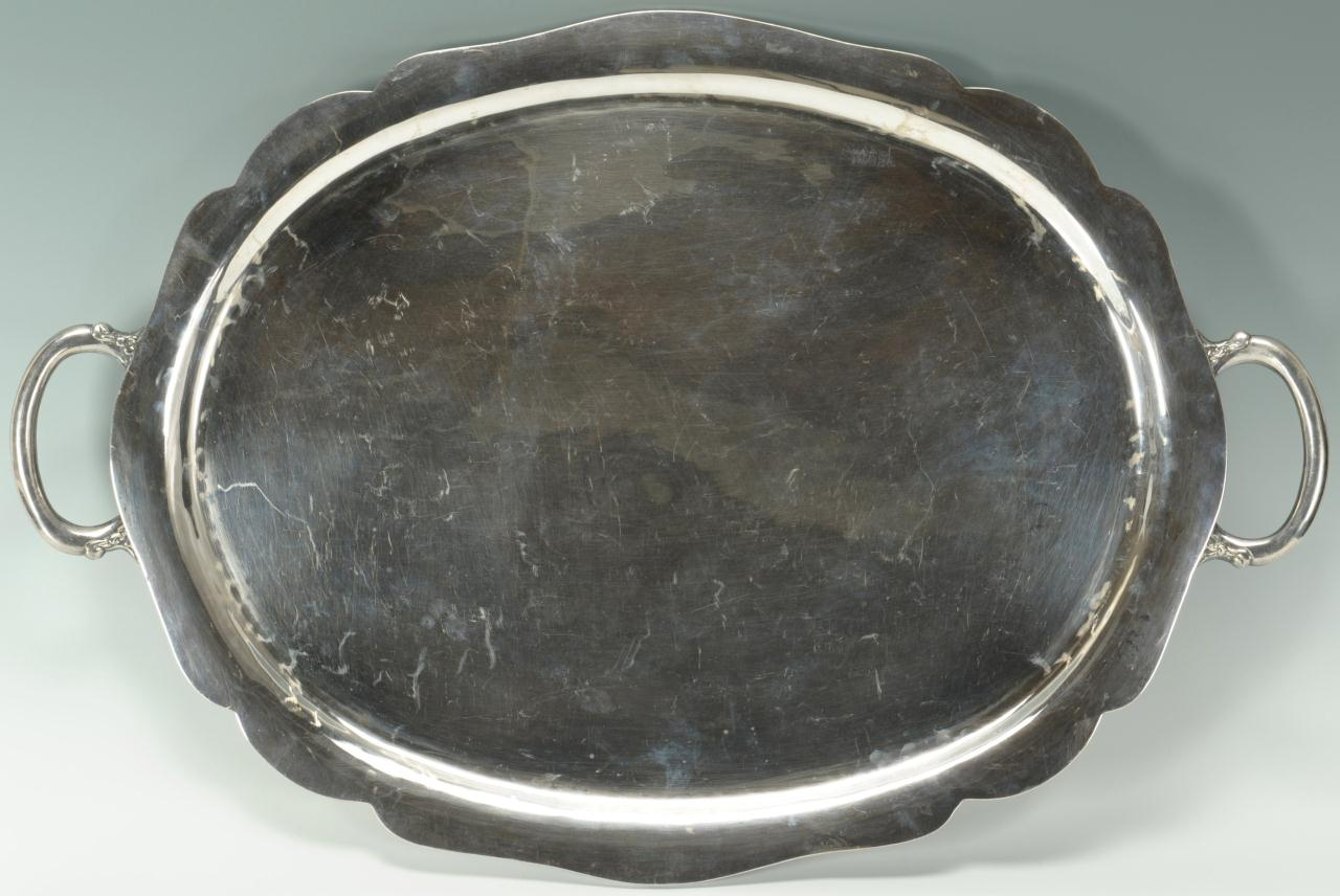 Lot 262 Mexican Sterling Silver Serving Tray 93 Oz