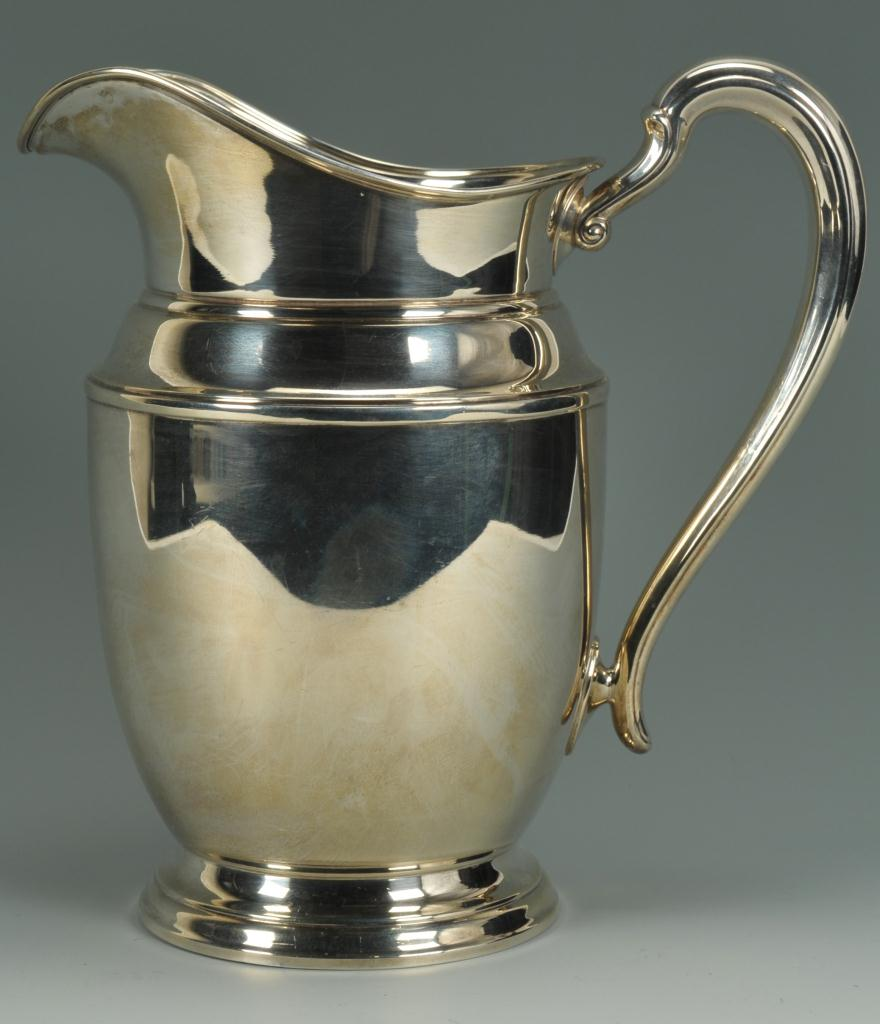 Lot 264: Meriden sterling silver water pitcher