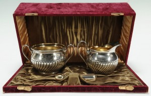 Lot 265: Shreve Crump & Lowe Presentation Silver Set