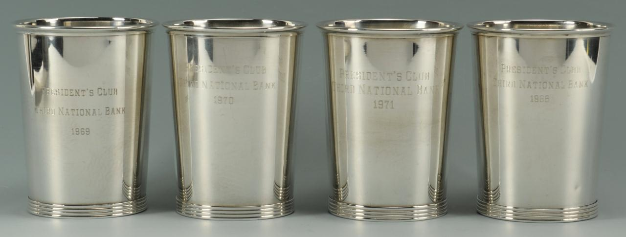 Lot 274: Wallace Silver Julep Cups, President's Club
