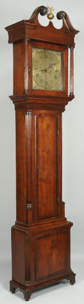 Lot 290: George III Clock William Taylor Whitehaven Works