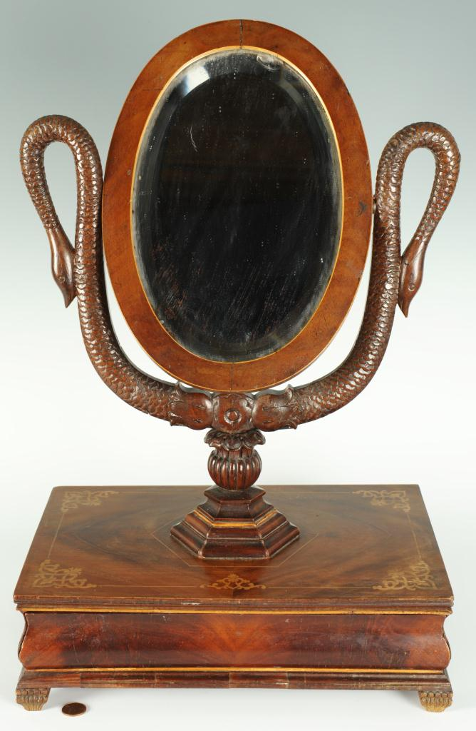 Lot 292: Classical Style Dressing Mirror with hidden drawer