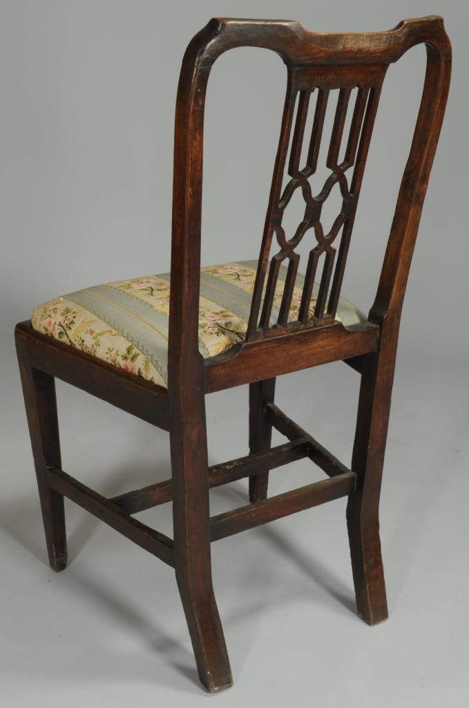 Lot 294: George II Backstool and Hepplewhite Side Chair