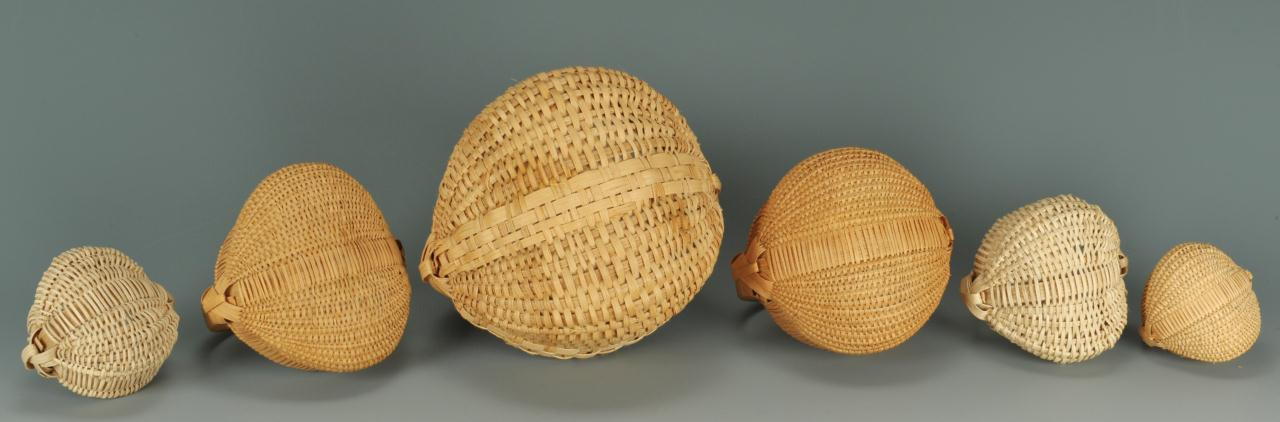 Lot 296: 6 small Tenn. baskets including Hibdon & Milligan