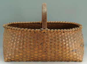 Lot 299: Large 19th Century East TN Oak Basket