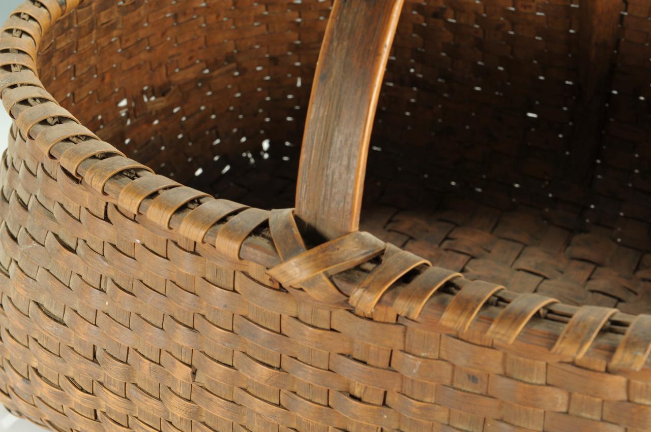 Lot 299: Large 19th Century East TN Oak Basket
