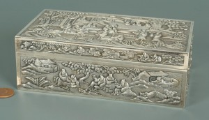 Lot 2: Chinese Export Silver Box