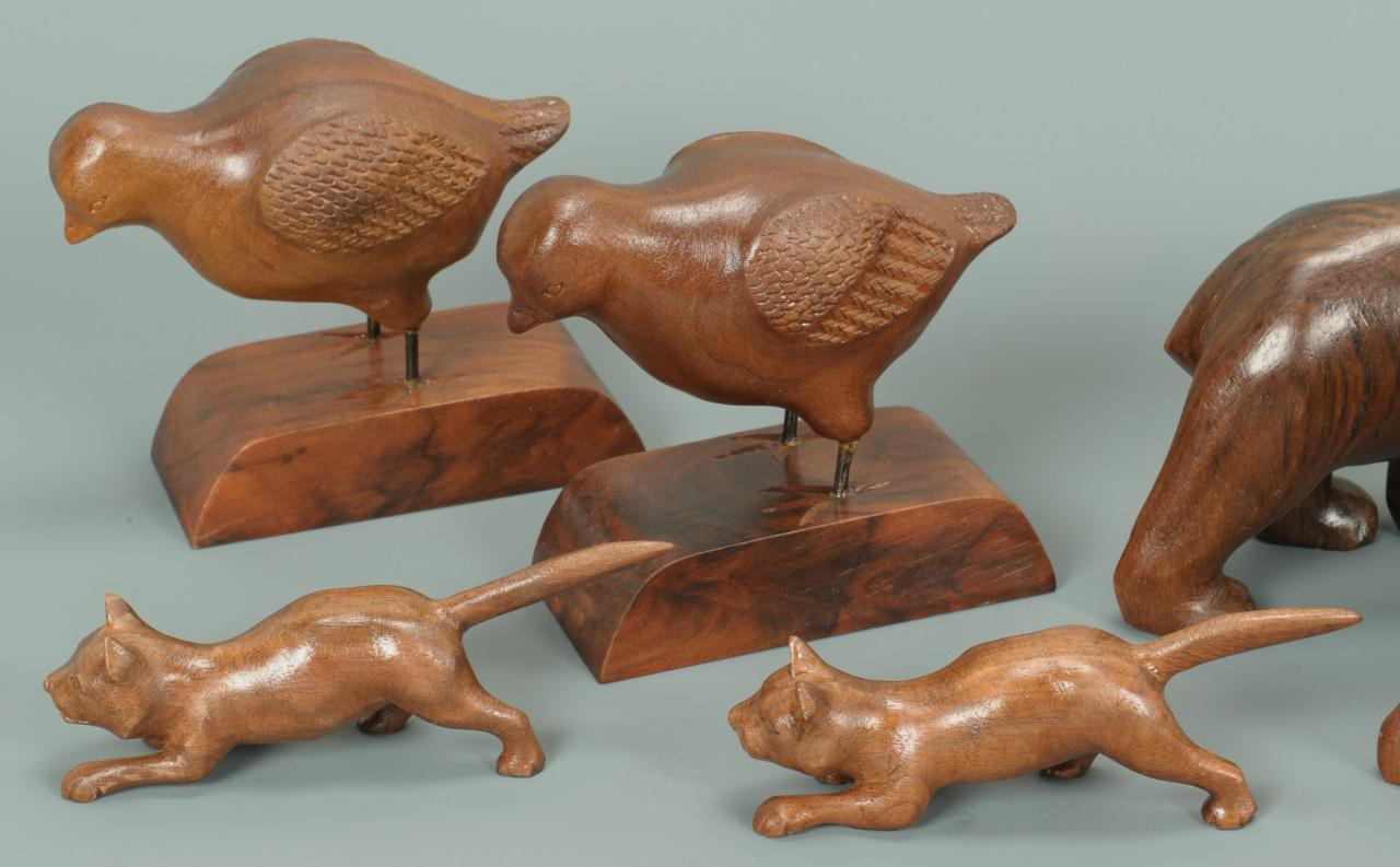 Lot 306: East TN Grouping Folk Art Carved Animals, 11 pcs.