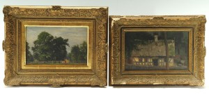 Lot 315: 2 Wilhem Sprenger Cottage Scene and Landscape