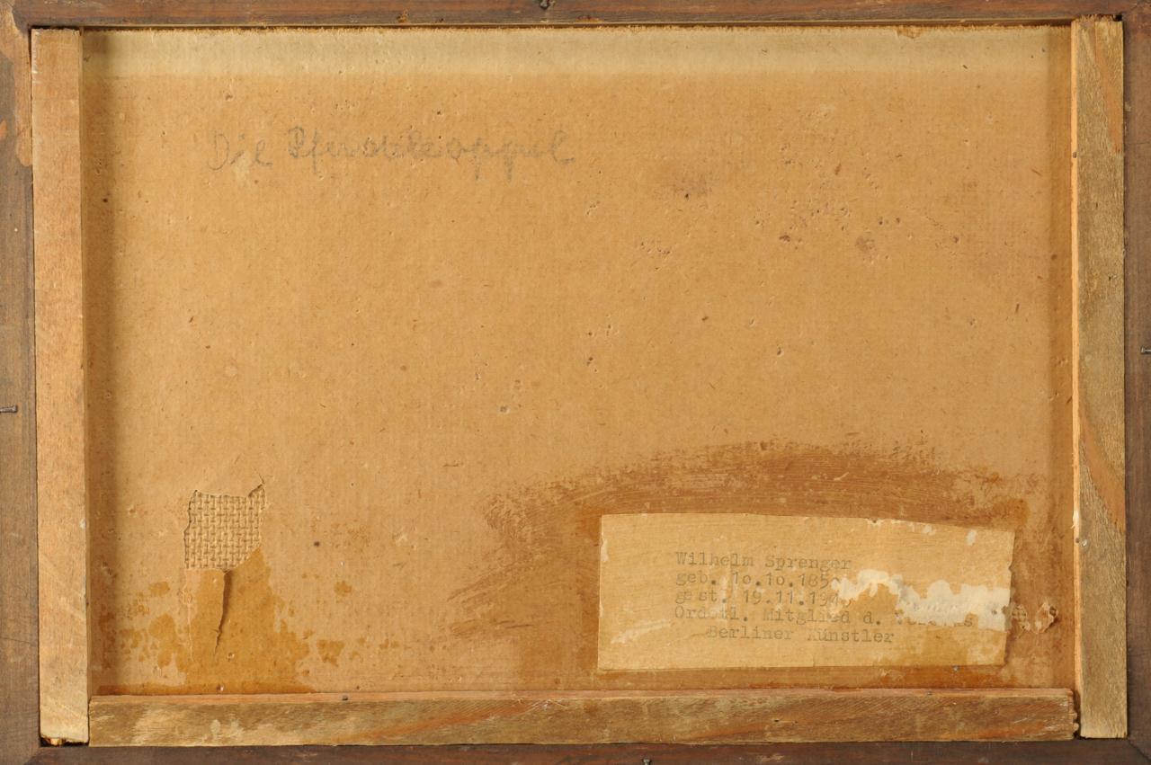 Lot 315: 2 Wilhem Sprenger Cottage Scene and Landscape
