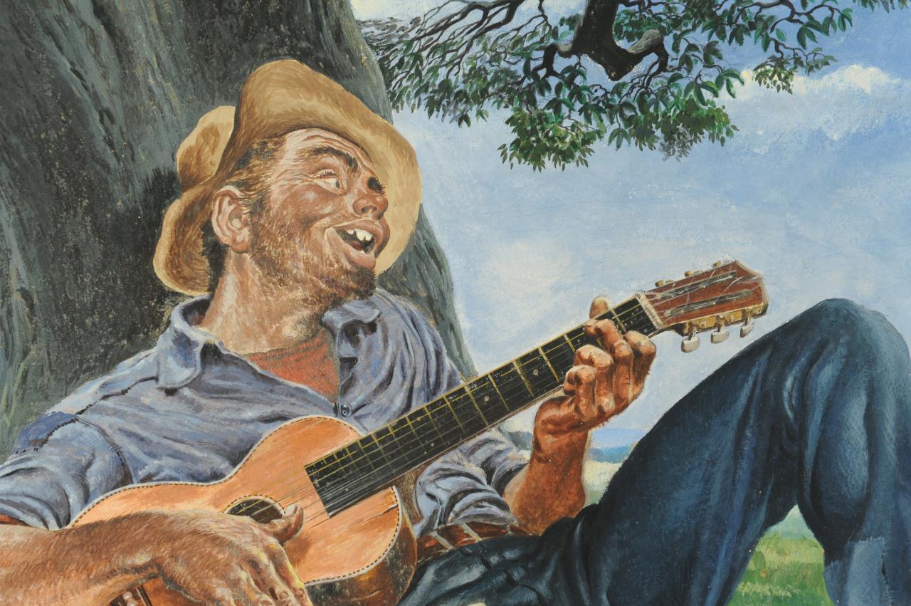 Lot 323: Charles Edmond Monroe illustration, guitar player
