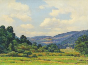 Lot 324: Francis Stillwell Dixon Oil on Canvas Landscape