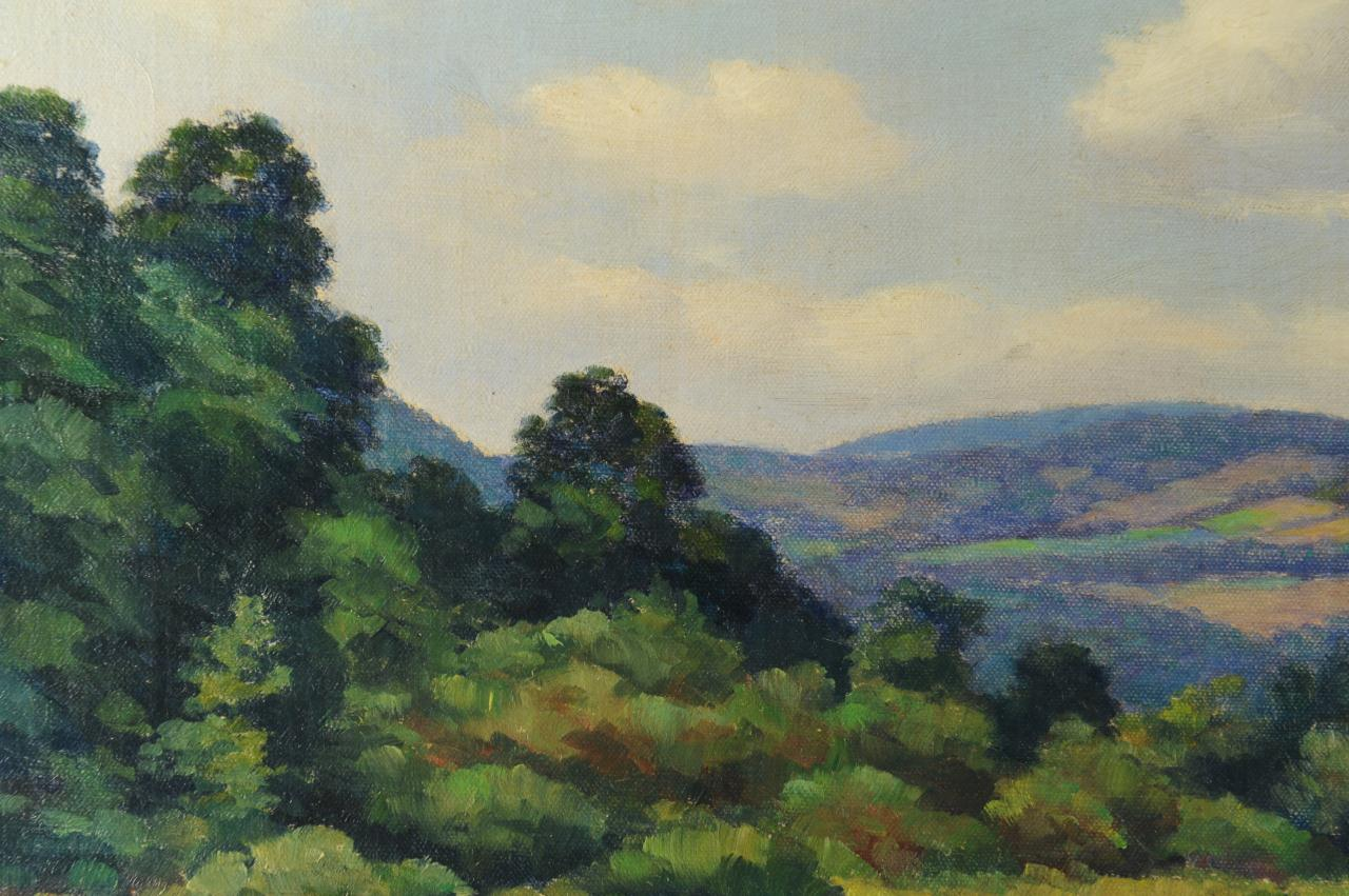 Lot 324: Francis Stillwell Dixon Oil on Canvas Landscape