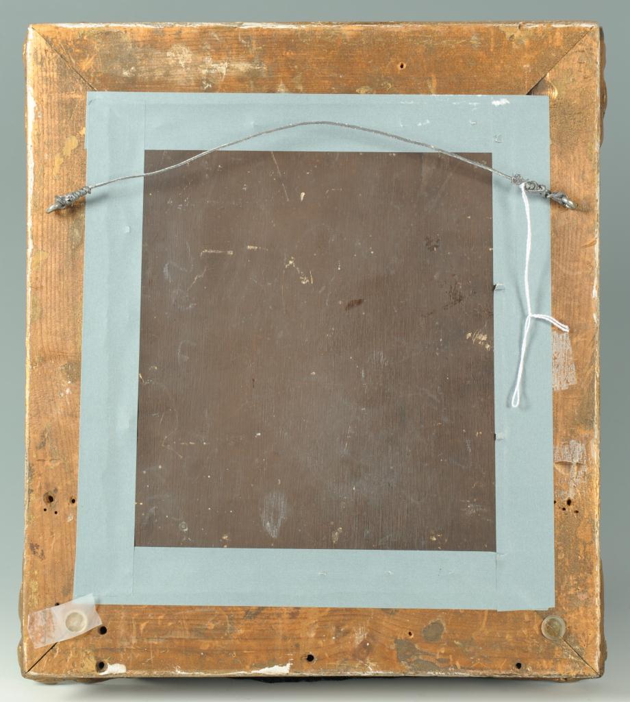 Lot 326: Small Portrait of a man, oil on board, 19th centur