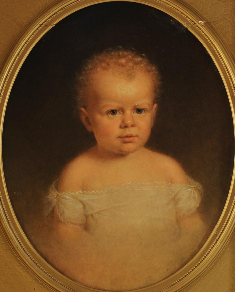 Lot 328: Wm. Wheeler oil on canvas, portrait of a child