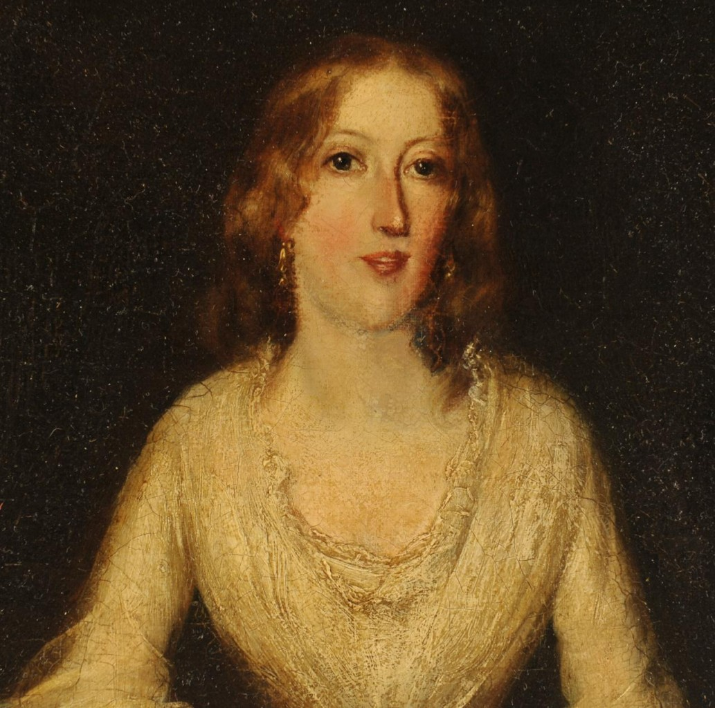 Lot 329: E. N. Downard portrait of young woman