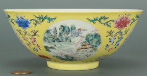 Lot 32: Chinese Famille Rose Bowl, season vignettes
