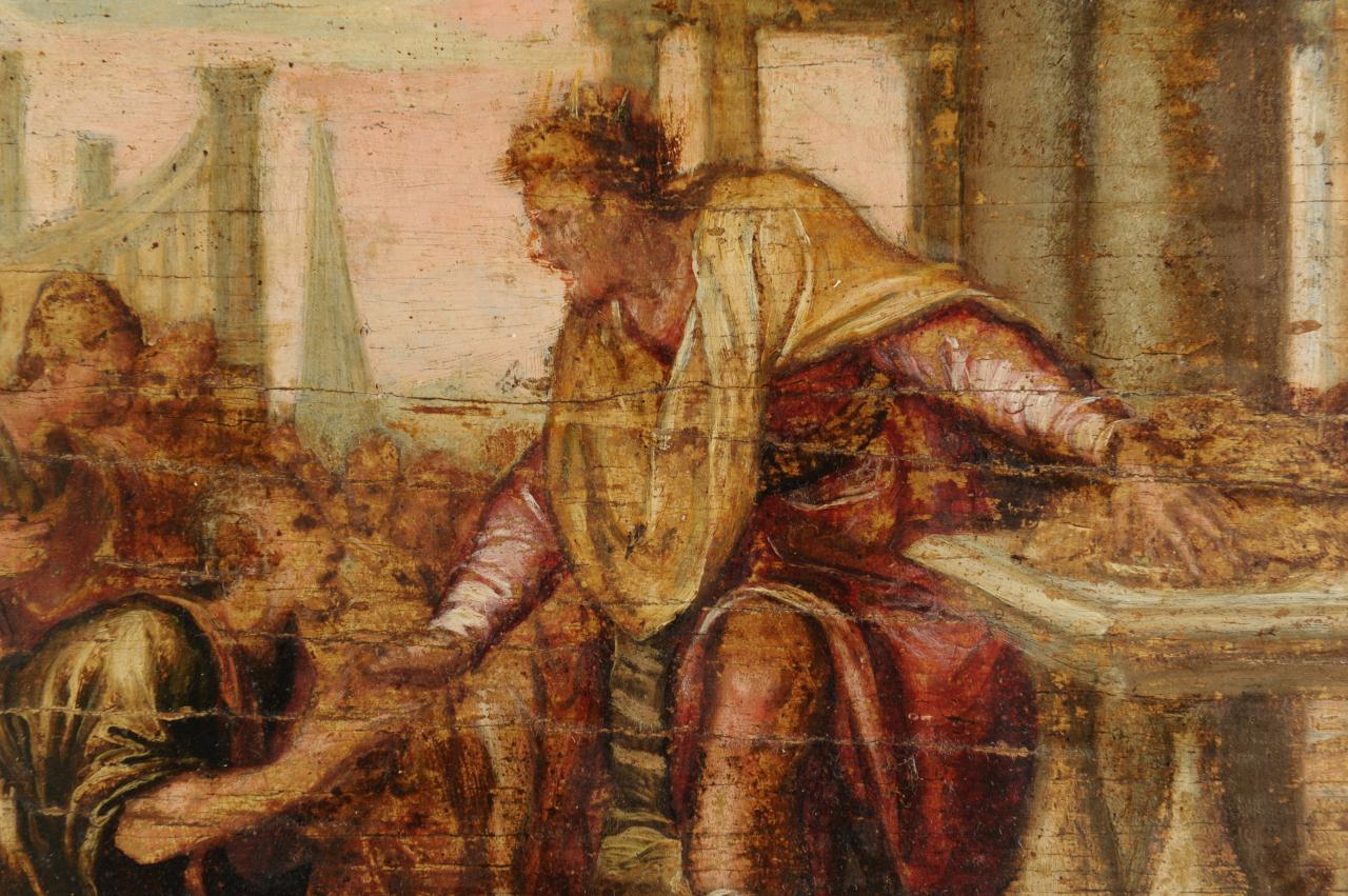 Lot 332: Oil on Panel of King David, Attr. Schiavone