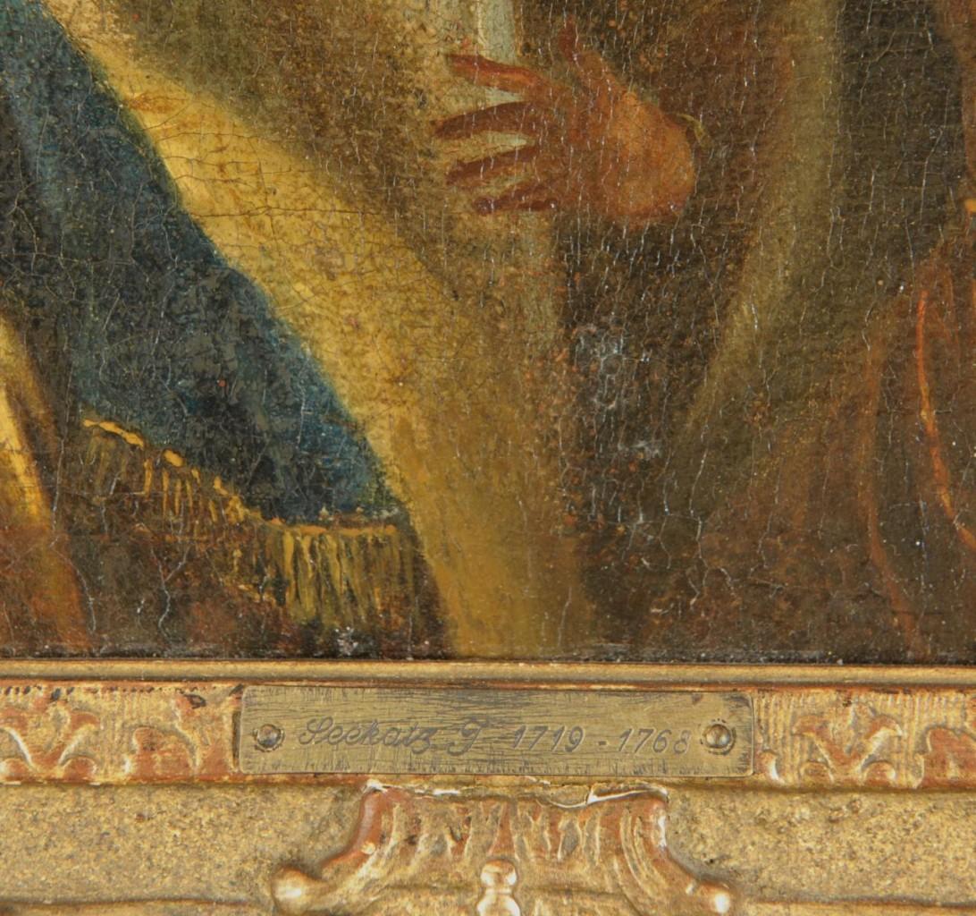 Lot 333: attr. J. Seekatz, The Potentate, oil on canvas