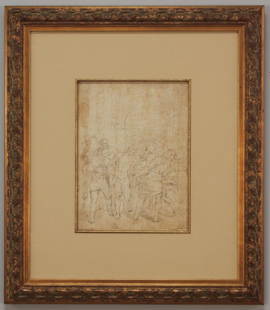 Lot 335: Drawing attr. Luciano Borzone, Italian, 17th c.